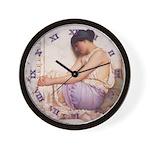 Grecian Girl 1908 - CLOCK Wall Clock
