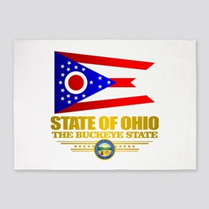 Ohio Flag 5'x7'Area Rug
