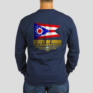 Ohio Flag Long Sleeve T-Shirt