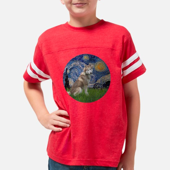R-Starry-RedSiberianHsuky Youth Football Shirt