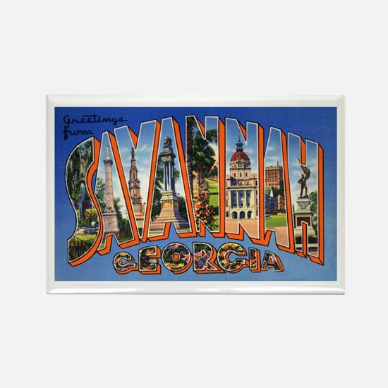 Savannah Georgia Greetings Rectangle Magnet