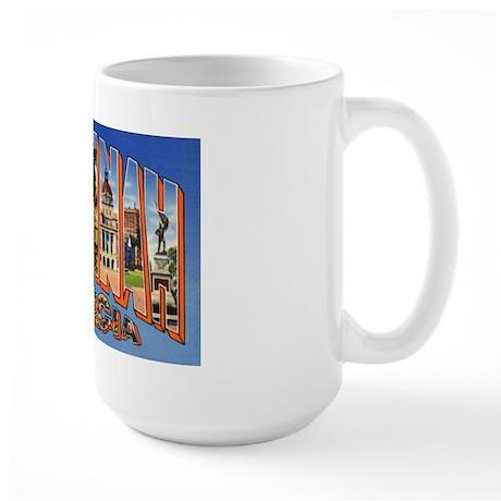 Savannah Georgia Greetings Large Mug
