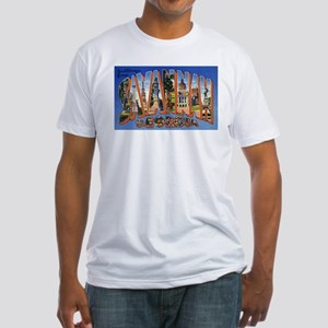 Savannah Georgia Greetings (Front) Fitted T-Shirt