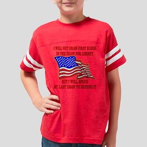 blk_first_blood_liberty Youth Football Shirt