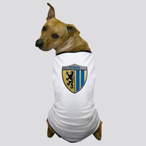 Leipzig Germany Metallic Shield Dog T-Shirt