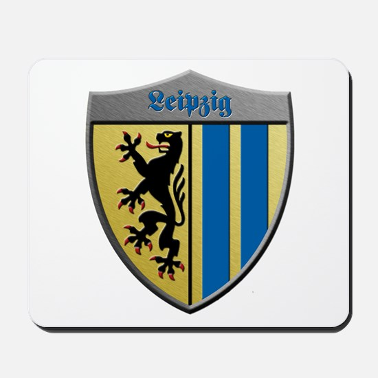 Leipzig Germany Metallic Shield Mousepad