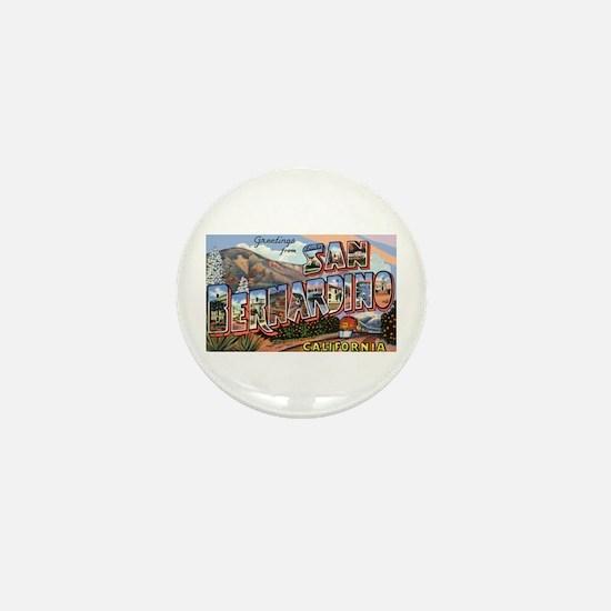San Bernardino California Greetings Mini Button
