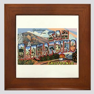 San Bernardino California Greetings Framed Tile