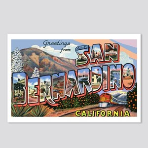 San Bernardino California Greetings Postcards (Pac