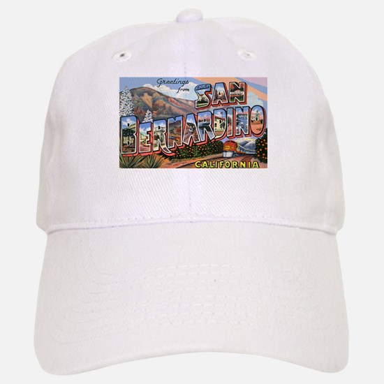 San Bernardino California Greetings Baseball Baseball Cap