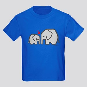 Elephants (4) Kids Dark T-Shirt