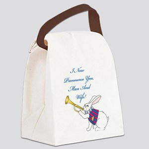 Man And Wife Canvas Lunch Bag
