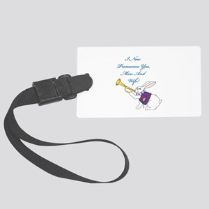 Man And Wife Luggage Tag