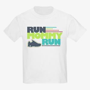 Run Mommy Run - Shoe - Kids Light T-Shirt