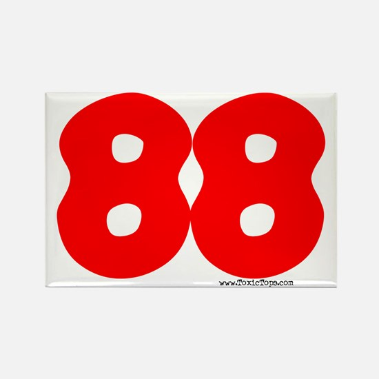 """88 """"Hugs and Kisses"""" Rectangle Magnet"""