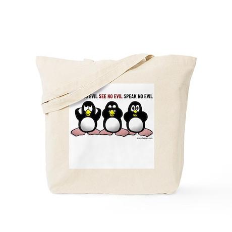 No Evil Penguins Tote Bag