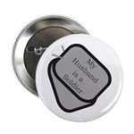 My Husband is a Soldier dog tag 2.25
