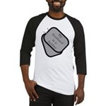 My Husband is a Soldier dog tag Baseball Jersey