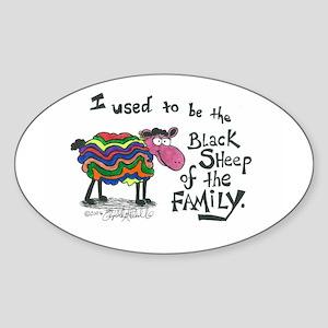 Black Sheep Oval Sticker