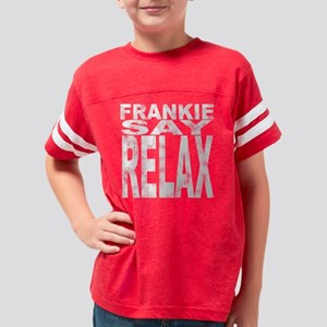 Frankie-say-relax-distressed- Youth Football Shirt
