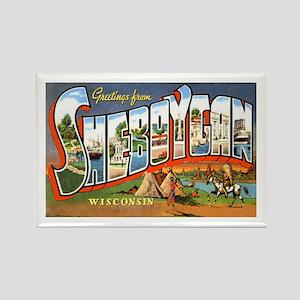 Sheboygan Wisconsin Greetings Rectangle Magnet