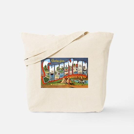 Sheboygan Wisconsin Greetings Tote Bag