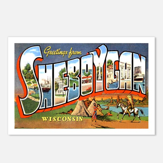 Sheboygan Wisconsin Greetings Postcards (Package o