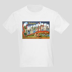 Sheboygan Wisconsin Greetings (Front) Kids T-Shirt