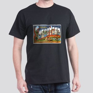 Sheboygan Wisconsin Greetings (Front) Dark T-Shirt
