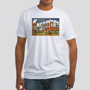 Sheboygan Wisconsin Greetings (Front) Fitted T-Shi