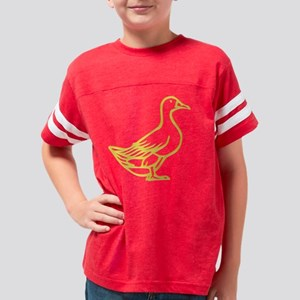 trans yellow duck Youth Football Shirt