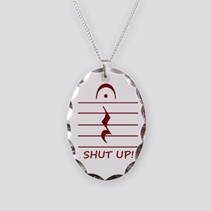 music notation shut up maroon Necklace