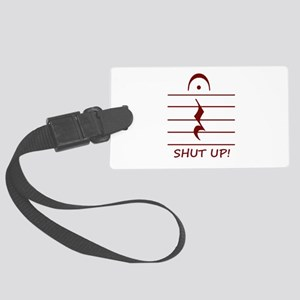 music notation shut up maroon Luggage Tag