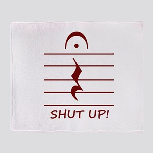 music notation shut up maroon Throw Blanket