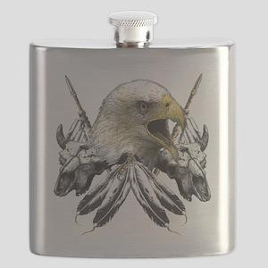 Buffalo Skull Eagle Flask