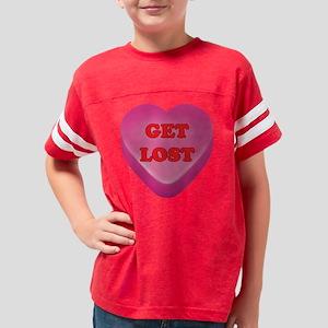 GetLost_hrt_pnk Youth Football Shirt