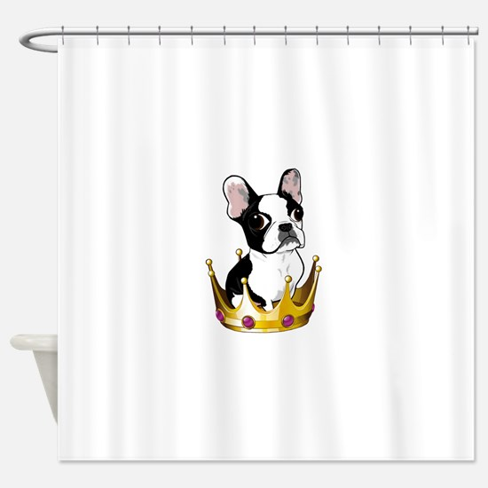 Boston in crown Shower Curtain