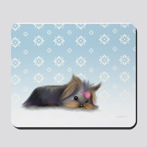 ByCatiaCho Yorkie L.Thinker Mousepad