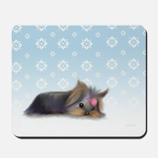ByCatiaCho Yorkie L.Thinker Mousepad