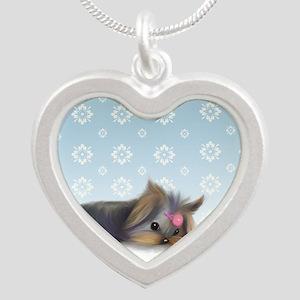 ByCatiaCho Yorkie L.Thinker Silver Heart Necklace