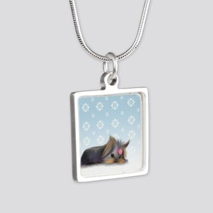 ByCatiaCho Yorkie L.Thinker Silver Square Necklace