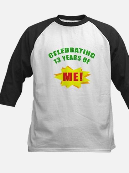 Celebrating Me! 13th Birthday Kids Baseball Jersey
