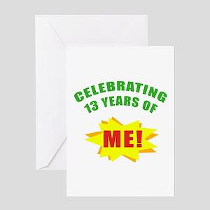 Celebrating Me! 13th Birthday Greeting Card