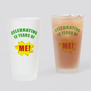 Celebrating Me! 13th Birthday Drinking Glass
