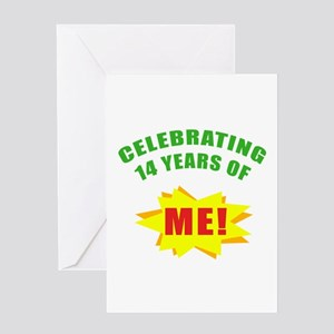 Celebrating Me! 14th Birthday Greeting Card