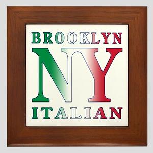 Brooklyn new york Italian Framed Tile