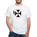 Lineworker on Iron Cross White T-Shirt