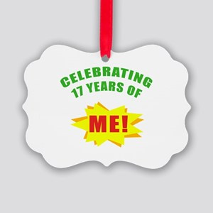 Celebrating Me! 17th Birthday Picture Ornament
