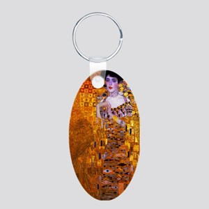 Klimt: Adele Bloch-Bauer I. Aluminum Oval Keychain