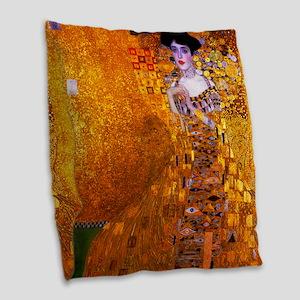 Klimt: Adele Bloch-Bauer I. Burlap Throw Pillow